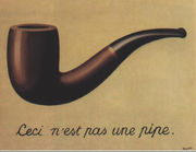 "René Magritte ""This is not a pipe"""
