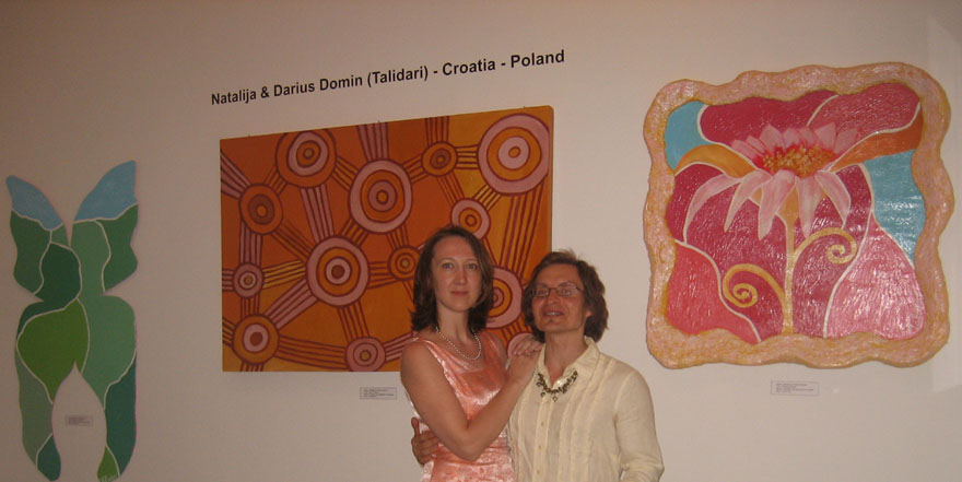 At Talidari's exhibition in Budapest, 2008